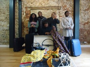 Anniwaa Buachie as Anne (from left to right) Rhoda Ofori-Attah, Nick Oshikanlu, Ellen Thomas, Lace Akpojaro, Anniwaa Buachie