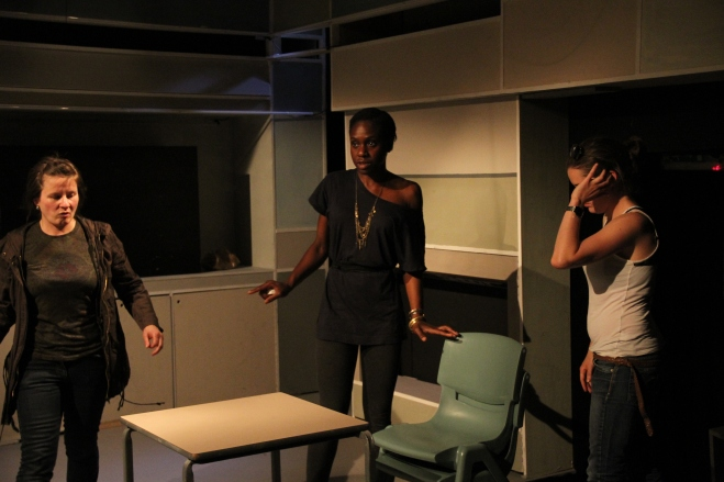 In June 2010, Anniwaa produced 7 successful plays based on the 7 Deadly Sins at Theatre 503. Here she has been captured in the middle of rehearsals.