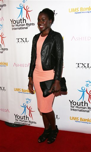 Anniwaa Buachie arrives at Youth for Human Rights International Celebrity Benefit at Beso Hollywood on Monday, March 24, 2014 in Los Angeles. (Photo by Annie I. Bang /Invision/AP)