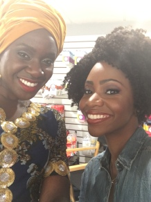 Anniwaa Buachie with Teyonah Parris on the set of Survivor's Remorse